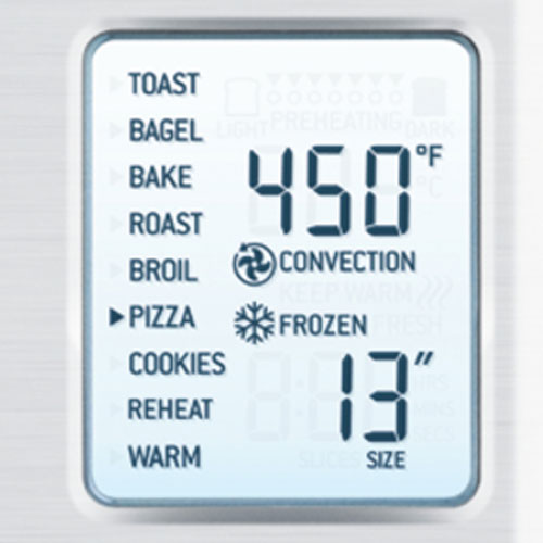 the Smart Oven in Brushed Stainless Steel with LCD Display