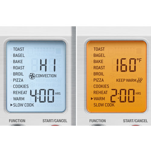 the Smart Oven™ Pro Oven In Brushed Stainless Steel LCD Display