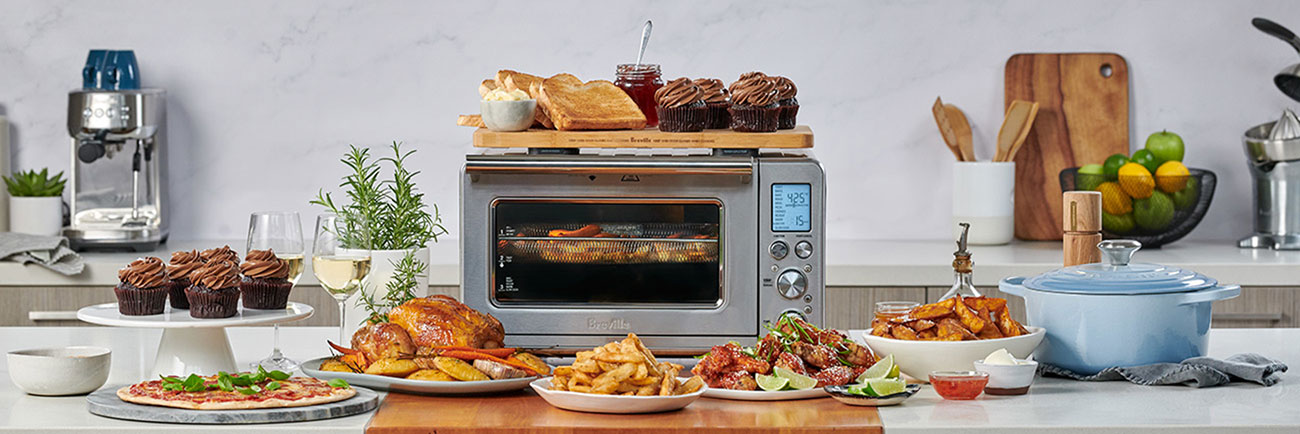 the smart oven air fryer in brushed stainless steel
