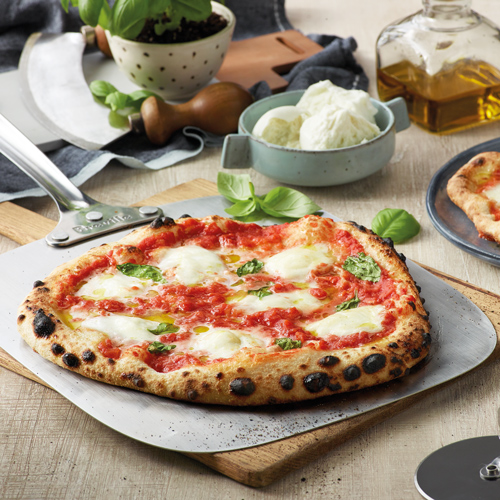 the Smart Oven Pizzaiolo Pizza maker in Brushed Stainless Steel with preset cooking functions