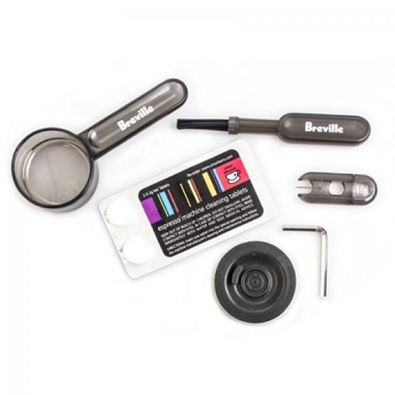 Eco Milk X2 Breville Cleaning Kit Set BWF100 X1 Tamp Mat X1 Descaler X2