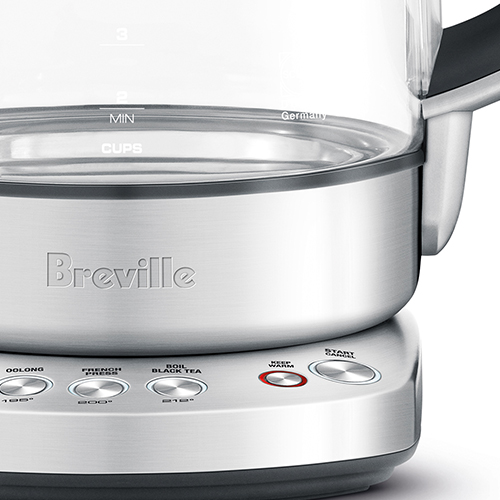 the IQ Kettle Pure in Brushed Stainless Steel with keep warm button
