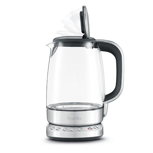the IQ Kettle Pure in Brushed Stainless Steel with soft top lid