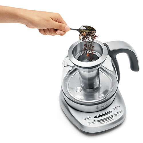 the Breville Smart Tea Infuser Compact in Brushed Stainless Steel with variable steep time