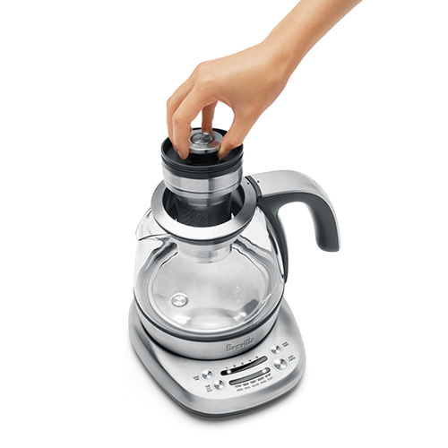 the Breville Smart Tea Infuser Compact in Brushed Stainless Steel is easy to use and clean
