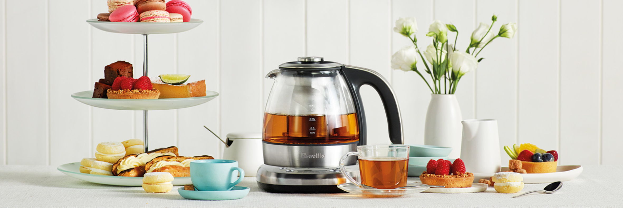 the Breville Smart Tea Infuser Compact in Brushed Stainless Steel