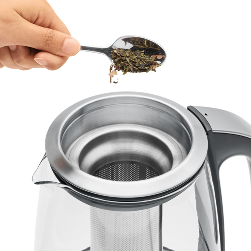 the Breville Smart Tea Infuser™ Tea In Brushed Stainless Steel with glass kettle 5 presets to suit your tea