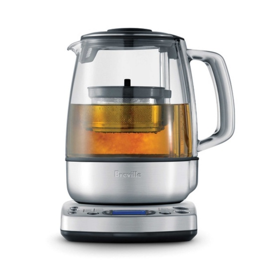 the Tea Maker in Brushed Stainless Steel with tea