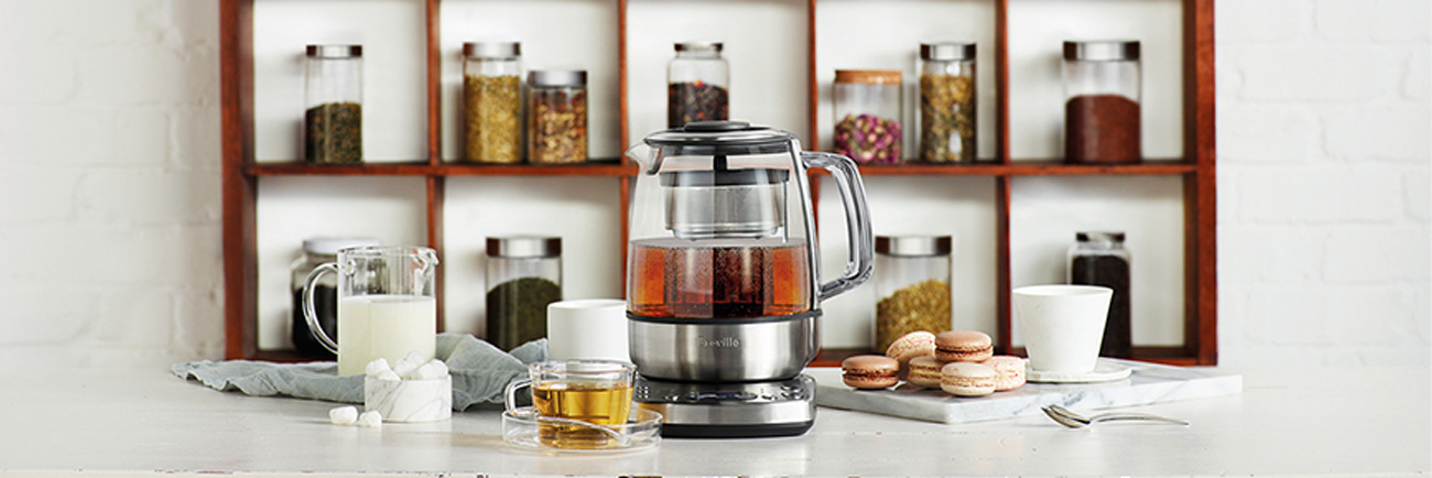 the Tea Maker in Brushed Stainless Steel