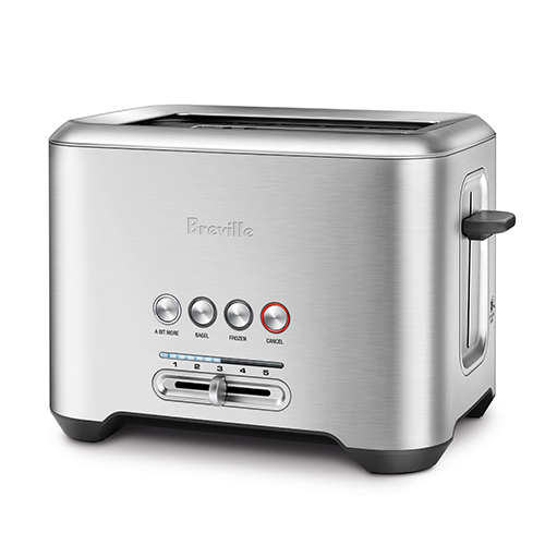 the Bit More® 2 Slice Toaster In Brushed Stainless Steel innovative auto features