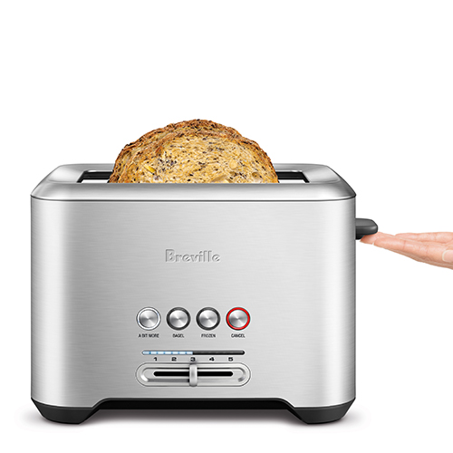 the Bit More® 2 Slice Toaster In Brushed Stainless Steel 2 slice capacity