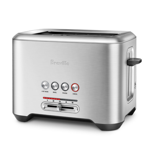 the Bit More Toaster in Silver with innovative auto features