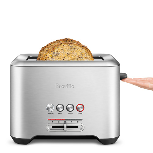 the Bit More Toaster in Silver with 2-slice toast capacity