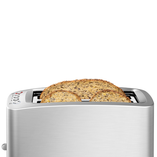 Die-Cast Smart Toaster™ Toaster In Brushed Stainless Steel extra long 4 slice capacity