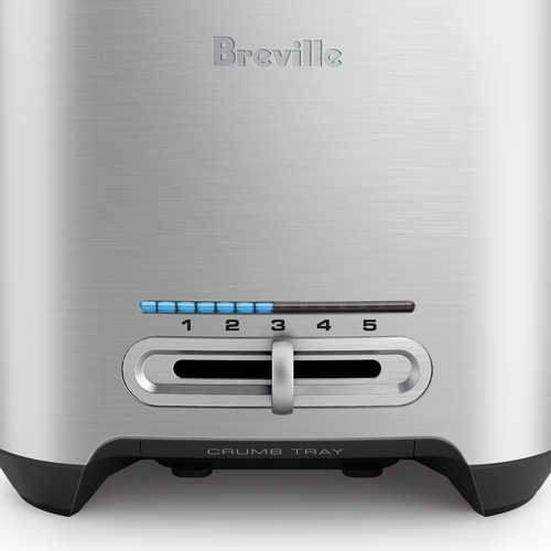 Die-Cast Smart Toaster™ Toaster In Brushed Stainless Steel variable browning control