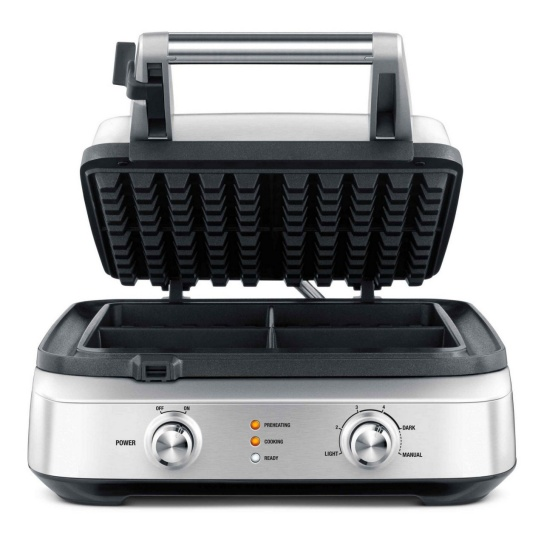 the Smart Waffle™ 4 Slice Brushed Stainless Steel