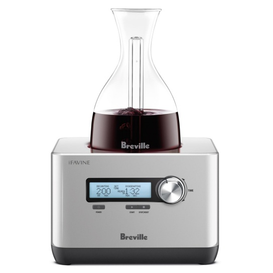 the Sommelier™ Wine Product In Silver Glass Decanter