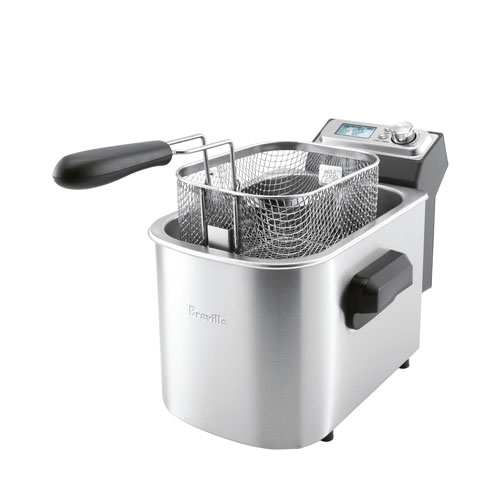 the Smart Fryer™ Woks Skillet & Deep Fryer In Brushed Stainless Steel cool zone technology