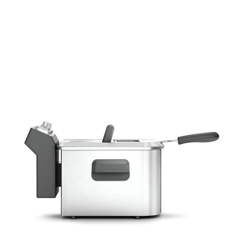 the Smart Fryer™ Woks Skillet & Deep Fryer In Brushed Stainless Steel easy cleaning
