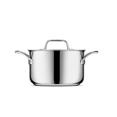 Thermal Pro® Clad Stainless Steel Covered Covered 4qt Saucepot