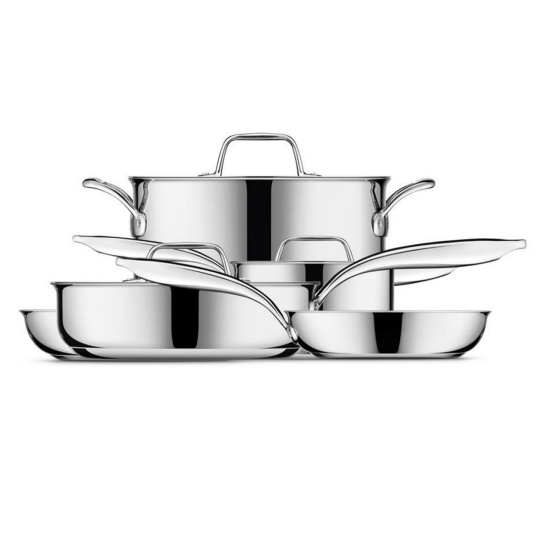 Thermal Pro® Clad Stainless 10-Piece Cookware Polished Stainless Steel