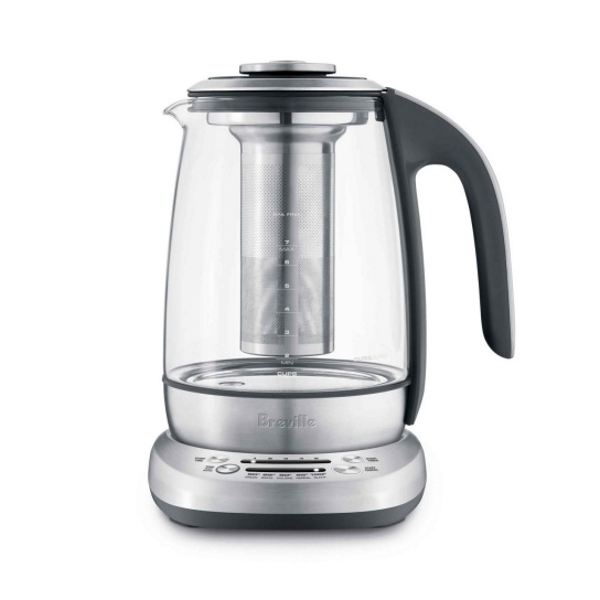 the Breville Smart Tea Infuser™ Brushed Stainless Steel with Glass Kettle